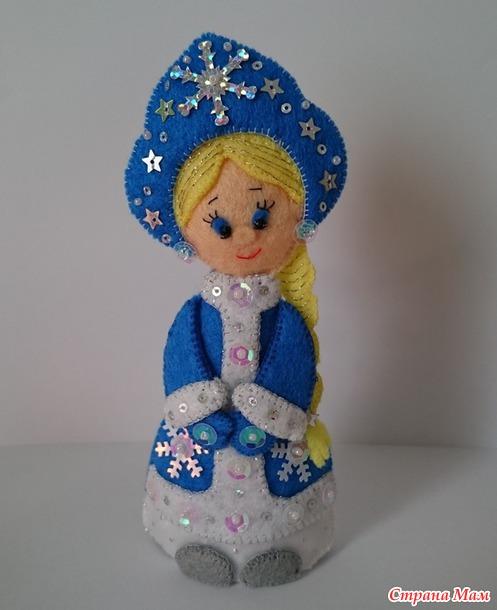 Снегурочка из ткани