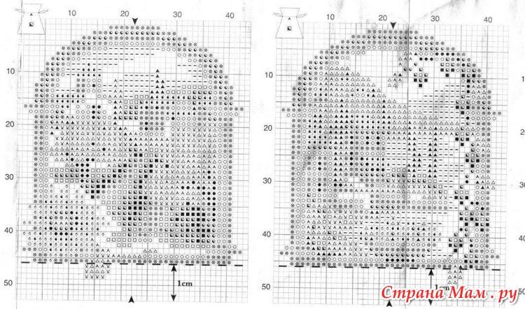 Схемы вышивки vervacoдля саше 36