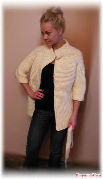Кардиган с воротником-стойкой - схема вязания спицами. - Pinterest 68