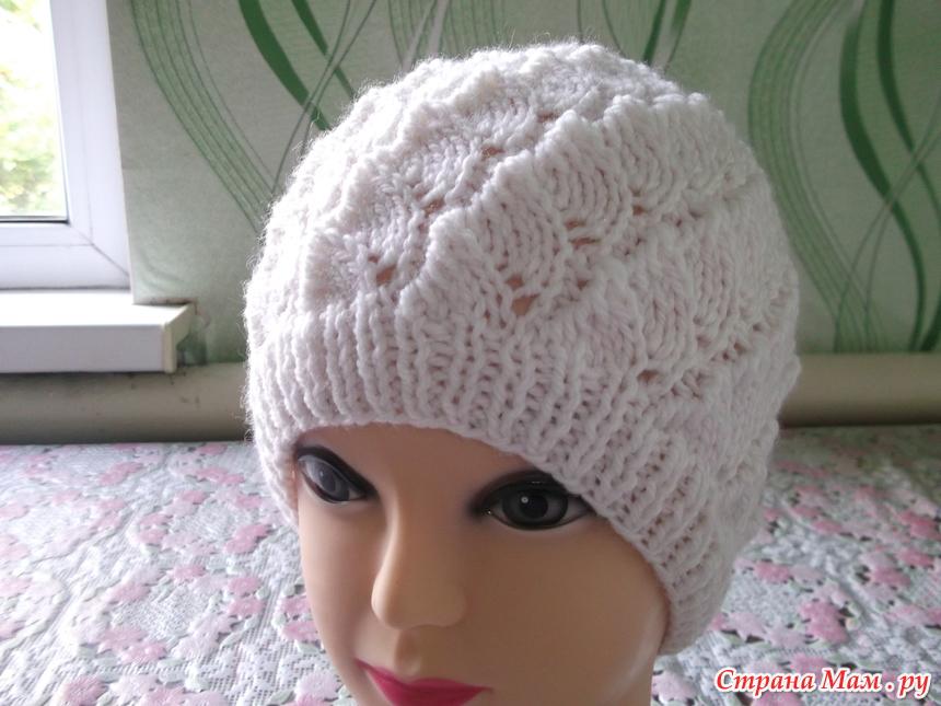Страна мам вязание шапок детям спицами 399