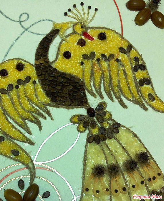 Жар-птица из природного материала