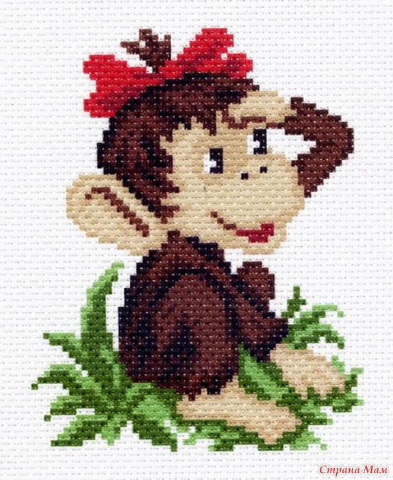 Вышивки крестом схемы обезьянки