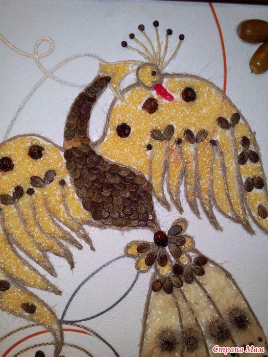 Жар-птица своими руками из природных материалов 306