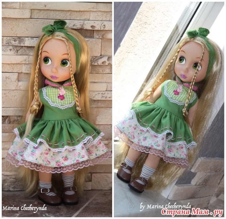 Как сделать платье для куклы большой