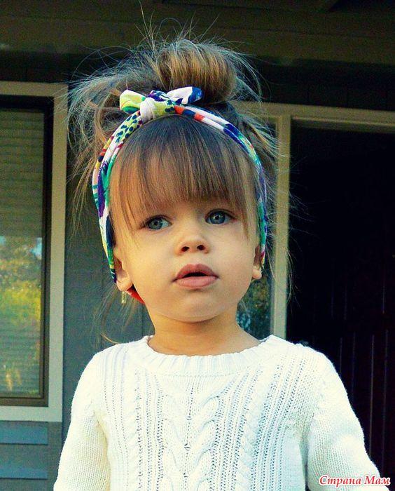 Стрижка маленькой девочки