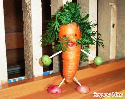 Подделка из овощей