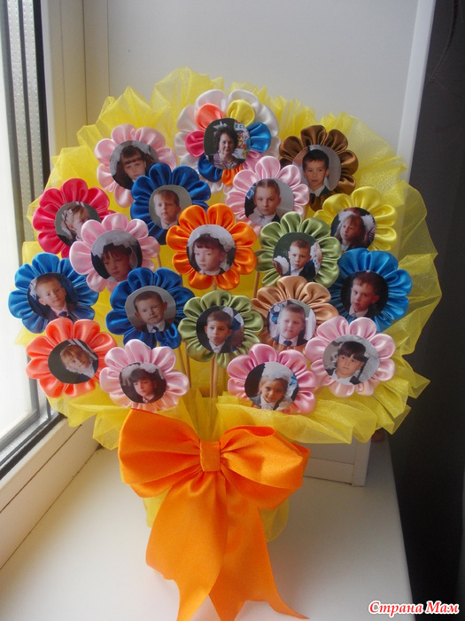 Подарки из цветов своими руками фото 104