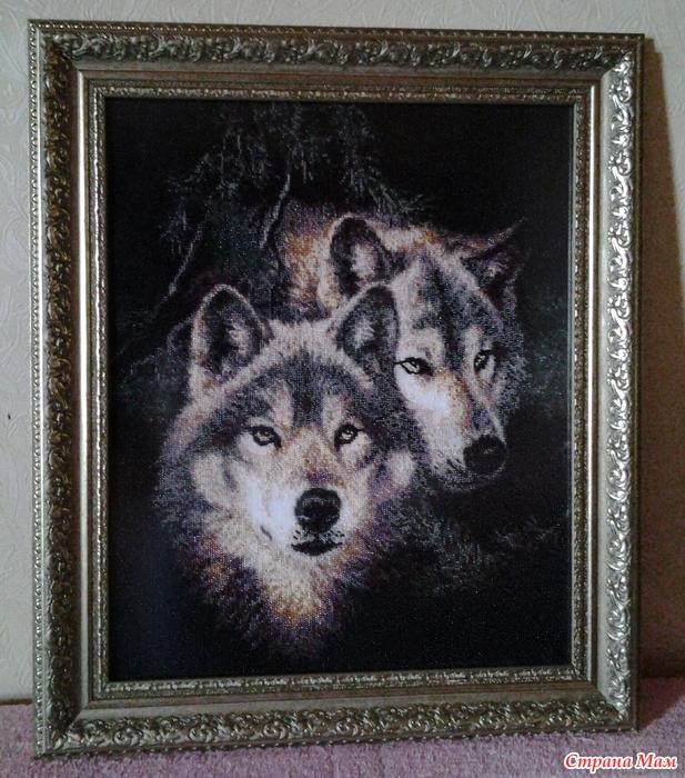 Волк в вышивке значение 50