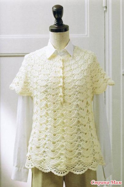 Блуза узором веера