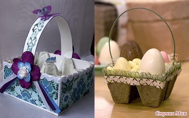 Коробка под яйца своими руками