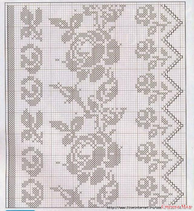 Филейное вязание роз крючком схемы 48