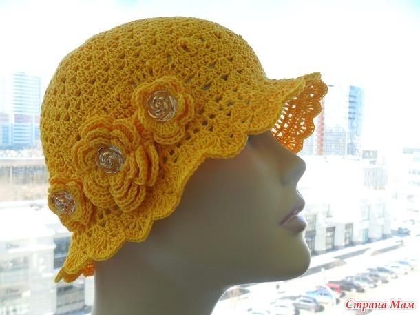 Женская летняя шляпка и шапочка
