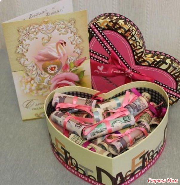 Денежные подарки своими руками на день рождение
