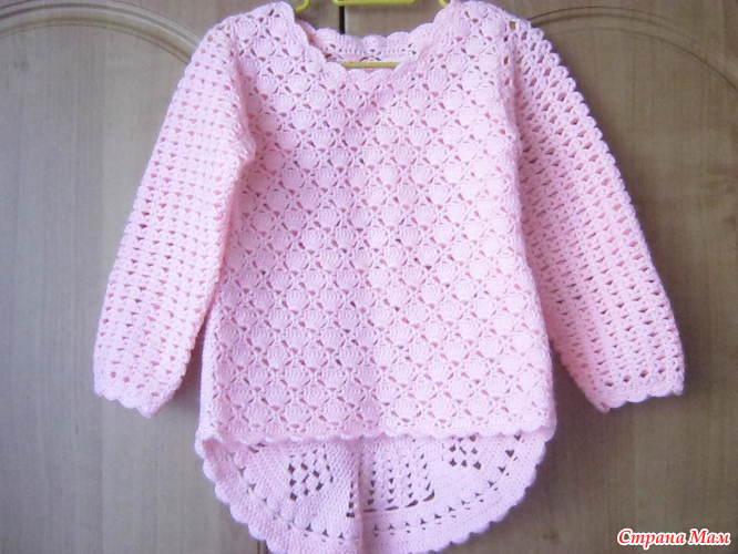 ажурный пуловер для девочки доставка