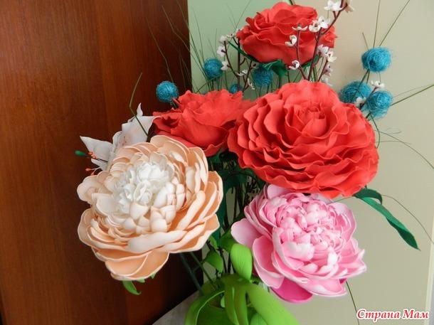 Цветочная композиция(цветы из фома)