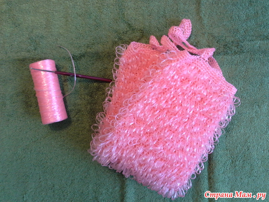 Вязание из ниток мочалка