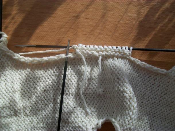 Вязание спицами рукав сверху от плеча 45
