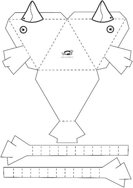 Объемный петух из бумаги  схемы