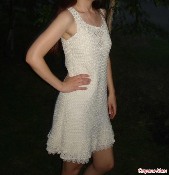 Вязание крючком платья из хлопка 6