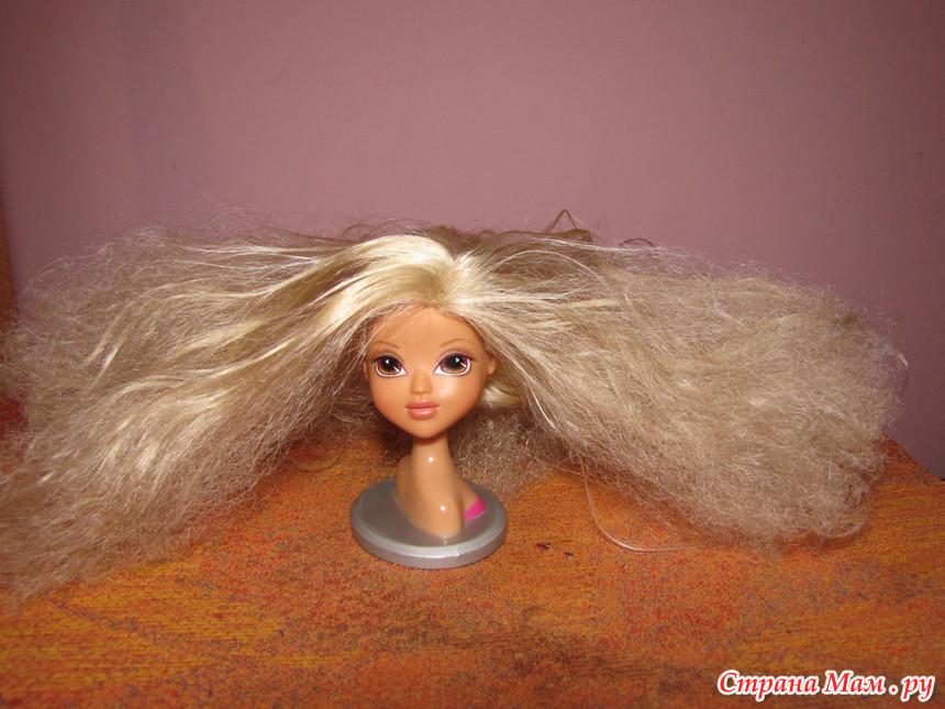 Как сделать мягкие волосы для куклы
