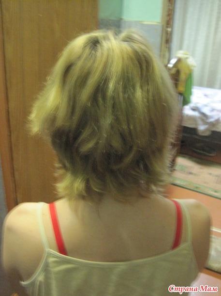 Волосы обломались на макушке