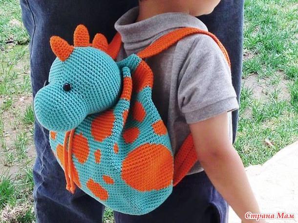 Как связать рюкзаки для детей