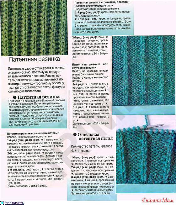 Виды вязаний
