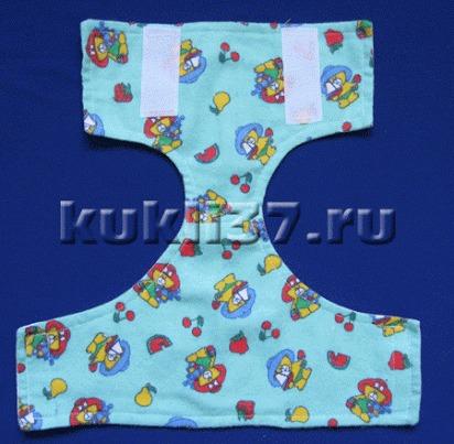 Как сшить памперс для беби бона 16