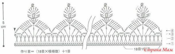 Повязка корона крючком схемы