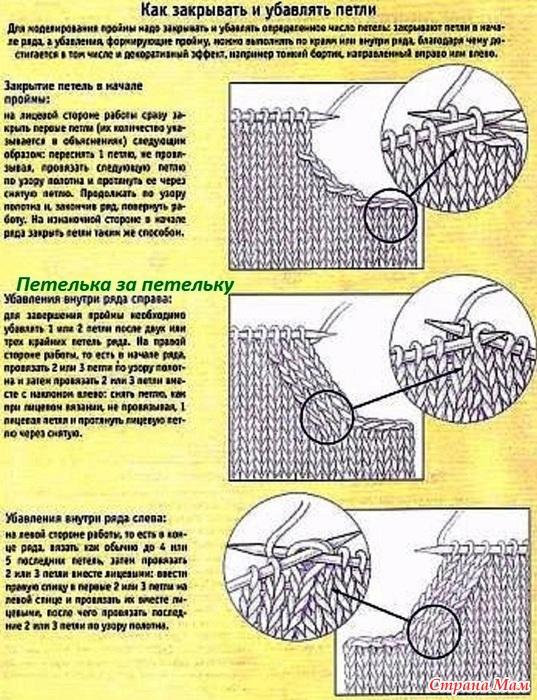 Как закрывать петли для проймы при вязание крючком