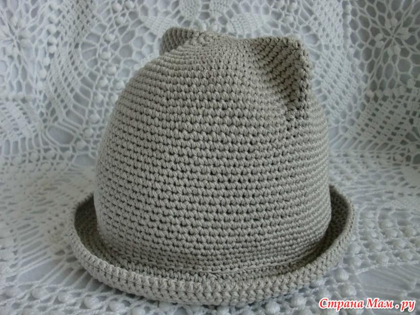 Шляпка с ушками схема
