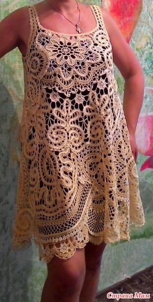 Платье в стиле бохо по мотивам брюггского кружева