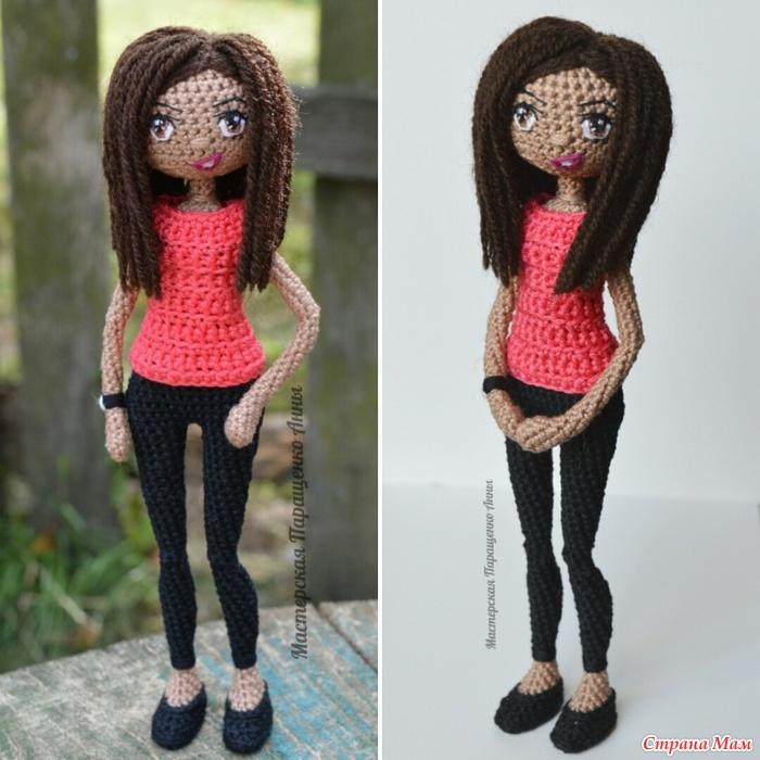 Вязание кукол с каркасом