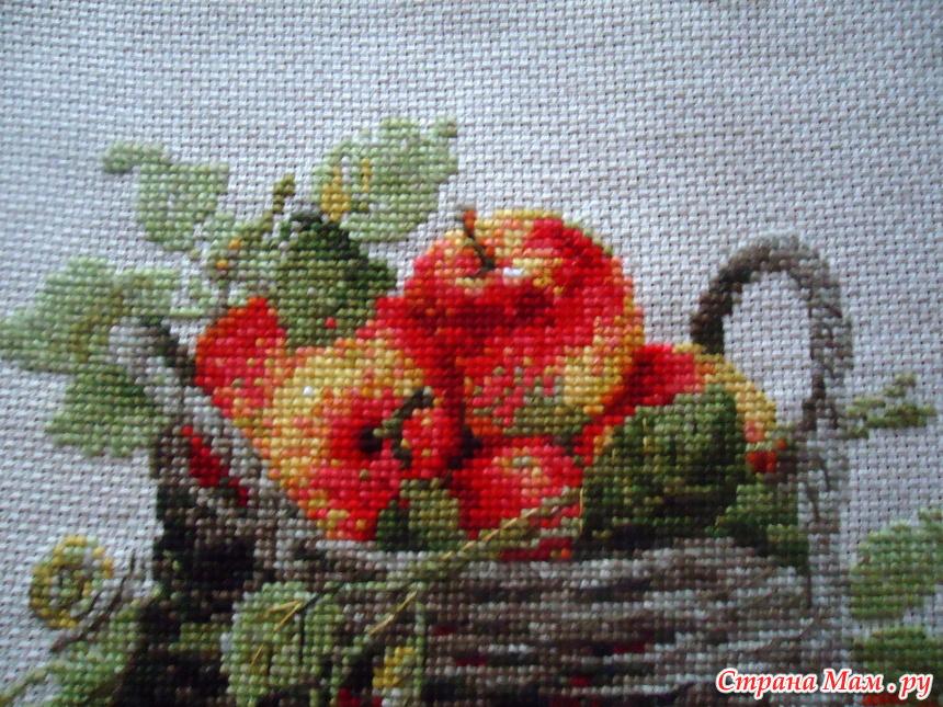 Яблоко риолис вышивка