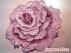 Роза плоская крючком схема