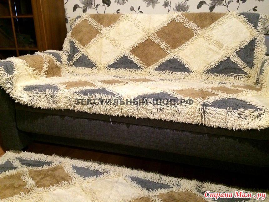 дивандека на диван и кресла плетенка зеленый