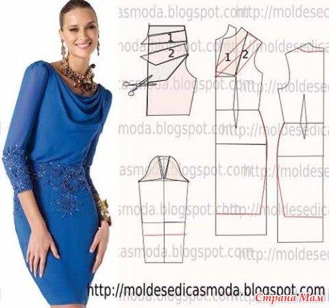 Выкройка простого элегантного платья
