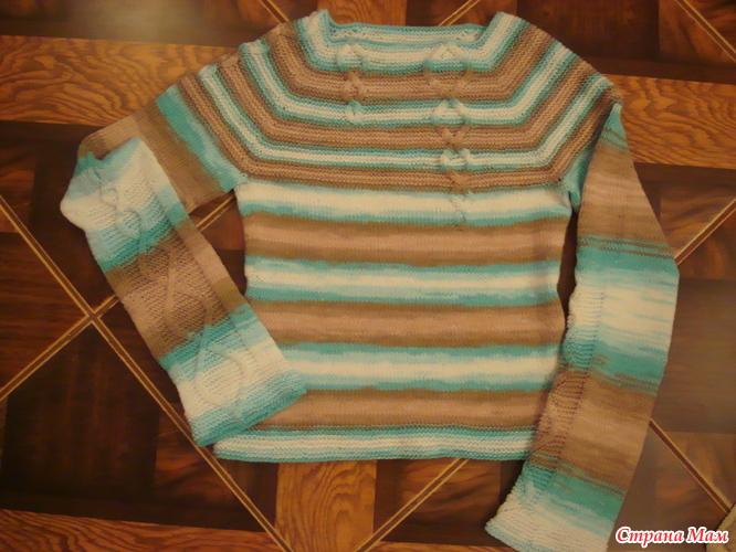 """针织套衫""""简洁的溪流"""" - maomao - 我随心动"""