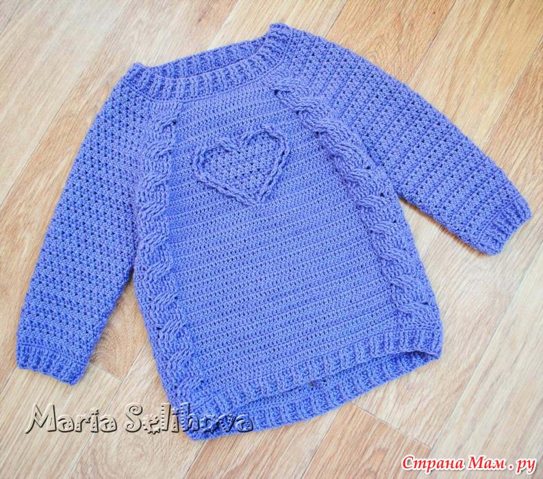 Страна мам вязание спицами кофта для девочки 20