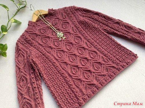 Очень красивый пуловер от японских мастериц. Не могу не поделиться.