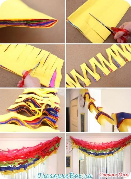 Как самому сделать гирлянду из бумаги