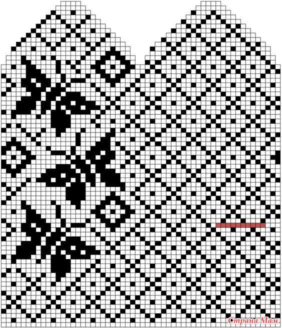 用于针织手套的图案 - maomao - 我随心动
