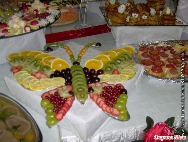 Украшение салатов фруктовых с фото