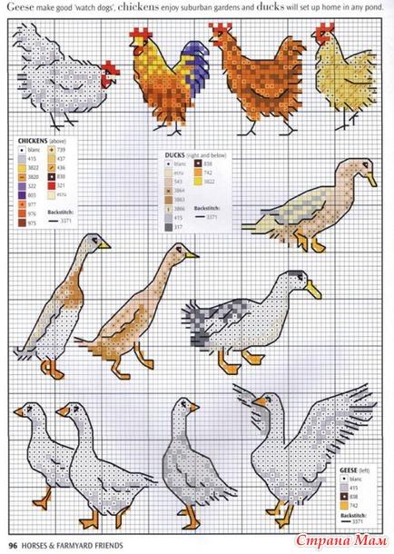Вышивка животных и птиц