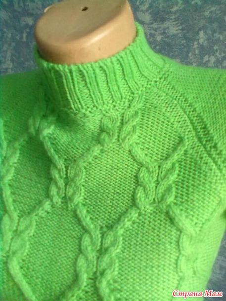 Свитер для девочки. Вязание спицами - Вязание - Страна Мам