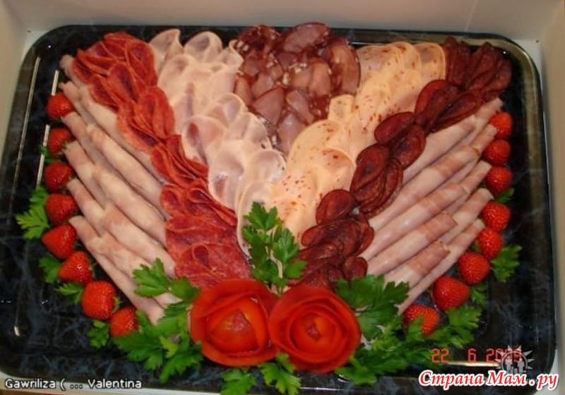 Праздничная нарезка. Мясо-колбасно-сырная тарелка)) Огроооомный выбор!))) - Страна Мам