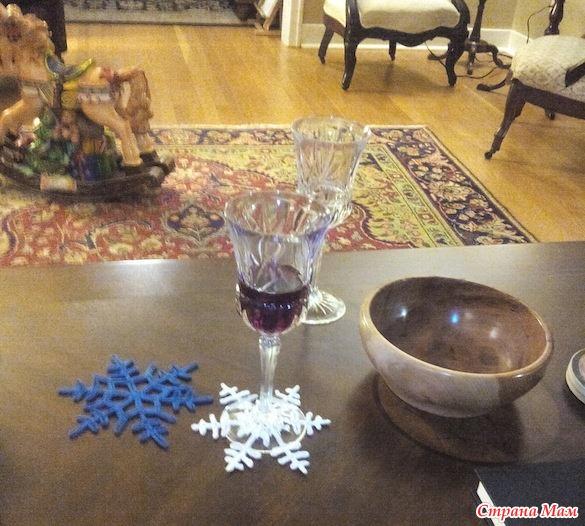 """钩针""""雪花""""杯垫 - maomao - 我随心动"""