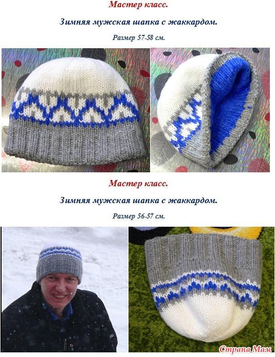 Мастер класс по вязания шапок спицами