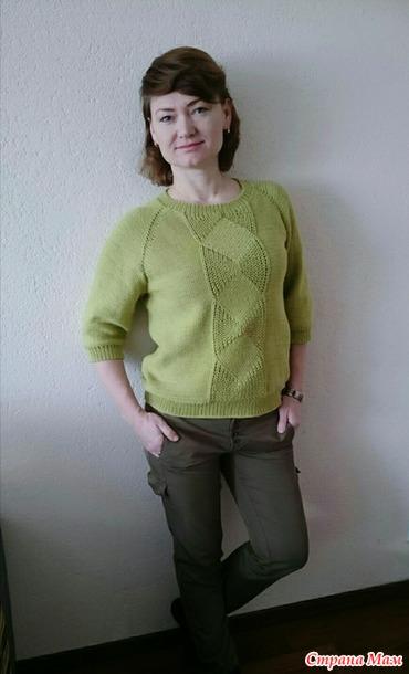 """时尚套衫""""美丽的斜式辐条""""(也有叫大镰刀的) - maomao - 我随心动"""