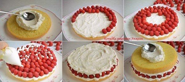 Простой и вкусный торт с кремом из сметаны